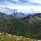 11.8.: Aussicht von der Hütte Richtung Bernina-Gruppe