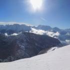 12.2.: Als Panorama mit Spuren Richtung Aussicht