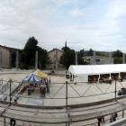 3.9.: Sportzentrum Heuried, Tag der Baustelle: zukünftiges Inneneisfeld