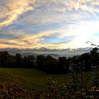 14.10.: Teil-Panorama Uto-Kulm, Blick Richtung Alpen