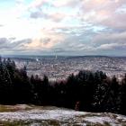7.11.: Schnee am Uetliberg – Aussichtsblick über die Stadt Zürich