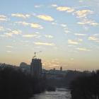 6.12.: Morgen-Himmel über der Limmat in Zürich