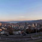 14.3.: Mittwochabend-Panorama: Waid Richtung Stadt Zürich, Zürichsee, Uetliberg und Alpen