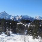 22.1.: Blick zurück beim Aufstieg zur Loochalp (ob Arvenbühl/Amden)