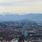 3.3.: Blick über die Stadt Zürich, Rötelterrasse