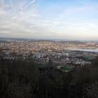 20.3.: Blick von Uto Kulm über die Stadt Zürich mit Abendsonne