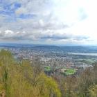 17.4.: Blick von Uto-Kulm über die Stadt Zürich