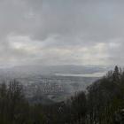28.4.: Schnee-April-Aussicht von Uto-Kulm über die Stadt Zürich
