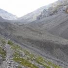 5.8.: unteres Ende des Blockgletschers im Val Sassa
