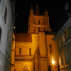 12.10.: Kathedrale Lausanne Nachtbeleuchtung