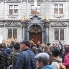 2.2.: Klimademo beim Rathaus