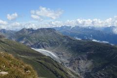 21.8.: Aletschgletscher vom Sparrhorn