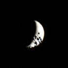 14.10.: Untergehender abnehmender Mond