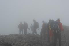 Gruppe im Nebel