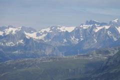 Die Windräder des Windparks Gütsch