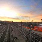 26.10.: Morgenhimmel von der Hardbrücke aus