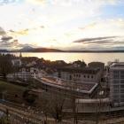 26.12.: Abendliche Aussicht über die Stadt Zug, den Zugersee und die Berge