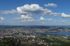 9.7.: Uto Kulm, Blick hinunter nach Zürich