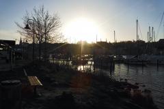 19.1.: Sonnenuntergang an der Flensburger Förde