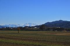 28.2.: Blick aus dem Limmattal Richtung Berge