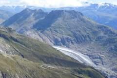 19.8.: Aletschgletscher vom Sparrhorn aus