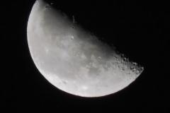 10.10.2020: etwa halber Mond
