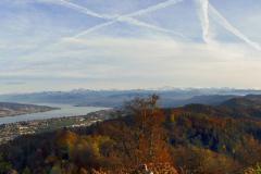25.10.: Blick vom Uetliberg Richtung Zürichsee