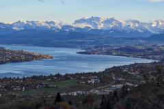 27.10.: Blick vom Uetliberg Richtung Zürichsee