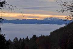 1.11.: Aussicht Richtung Glärnisch und Co, beim Aufstieg zum Uetliberg