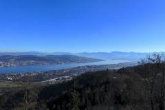 14.11.: Blick vom Uetliberg Richtung Zürichsee