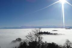 26.11.: Blick über den Hochnebel von Uto Kulm aus