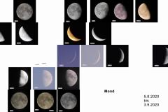 Mondphasen 5.8. bis 3.9.